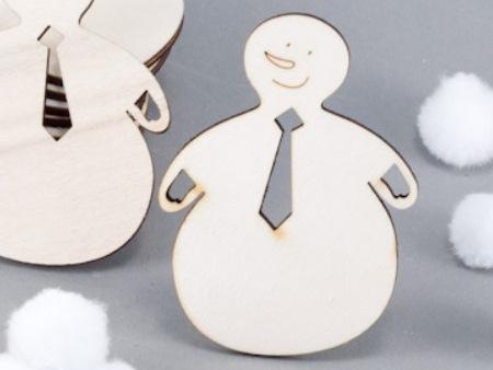 příklad gravírování: sněhuláček s kravatou